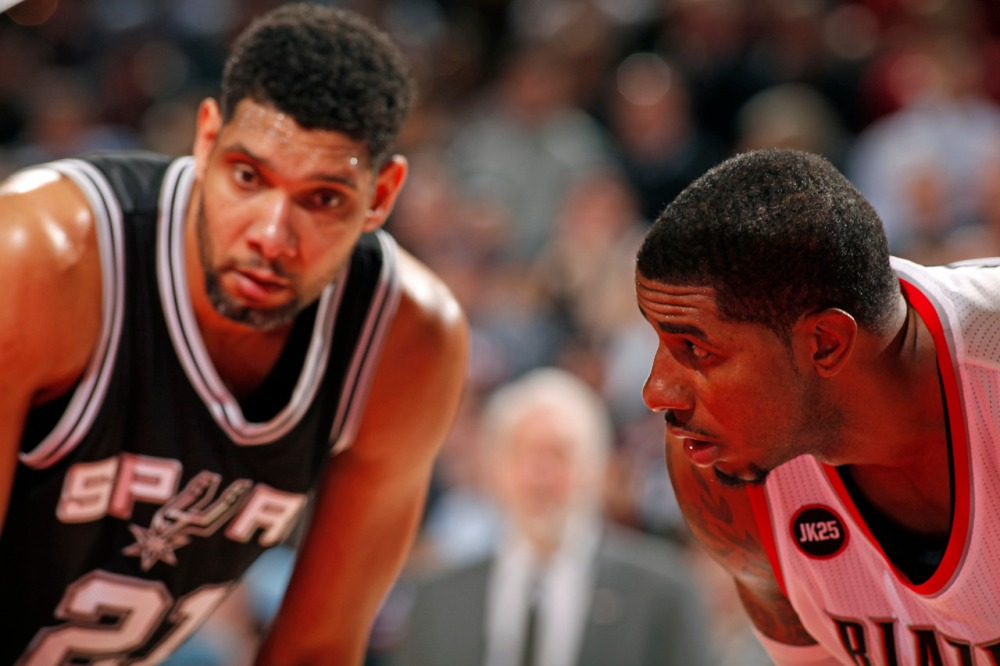 Aldridge and Tim Duncan could be the Spurs' twin-towers next season.