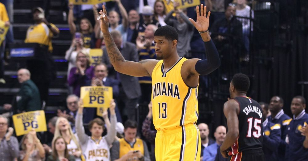 Paul George has been at the centre of everything good for the Pacers this season.